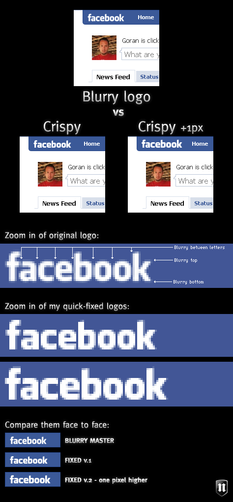Facebook logo tweak
