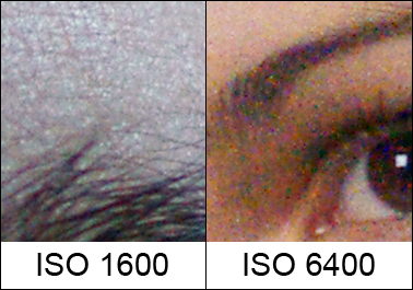 ISO 1600 and 6400